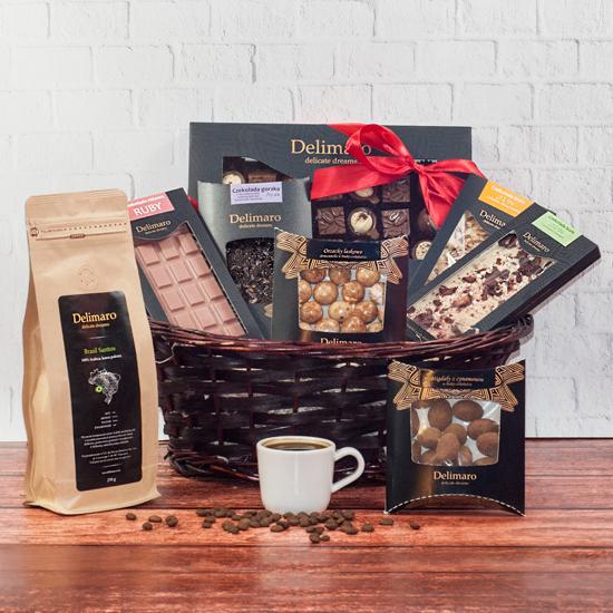 czekoladowy zestaw prezentowy Przyjemność Delimaro