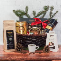 Kosz prezentowy na święta -  Świąteczna Kawa